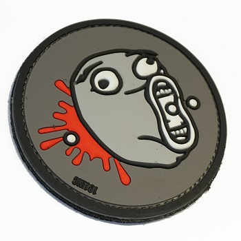 "Patchzone ® ""Eat my BBs Trollface"" PVC Patch"