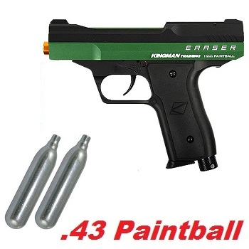 Kingman Eraser Cal .43 Paintball Marker Set - Racing Green