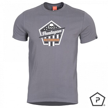 "Pentagon ® T-Shirt ""Victorious"", Wolf Grey - Gr. M"