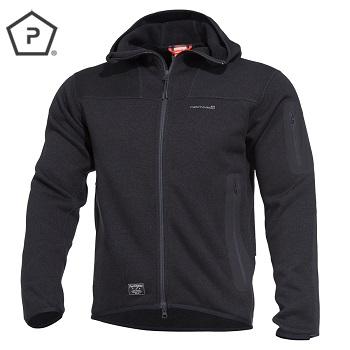 "Pentagon ® Tactical Sweater / Fleece Jacke ""Falcon"", Black - Gr. L"