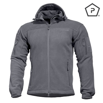 "Pentagon ® Tactical Fleece Jacke ""Hercules"", Grey - Gr. L"