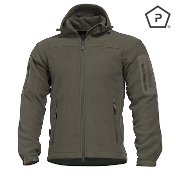 "Pentagon ® Tactical Fleece Jacke ""Hercules"", Olive - Gr. XL"