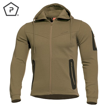 "Pentagon ® Tactical Sweater / Jacke ""Pentathlon"", Coyote - Gr. L"