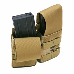 PANTAC Molle M4 Double-Mag Pouch with Plastic insert (MC)
