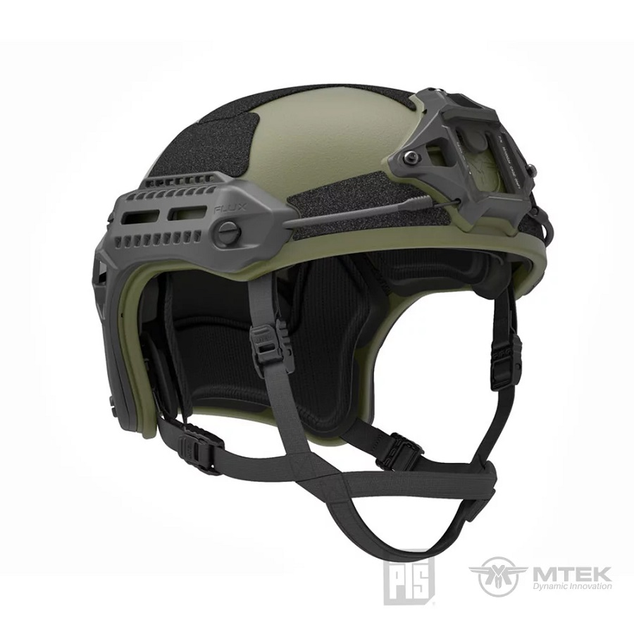 PTS x MTEK ® FLUX Helmet Modularer Trainingshelm - Ranger Green