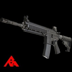 RA-Tech Custom WE HK416 Black GBBR (NPAS) - LVL 1