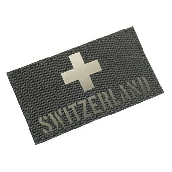 "RayWorx ® ""Flag Frontpatch - Switzerland"" IR Patch - Black"
