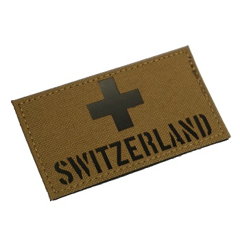 "RayWorx ® ""Flag Frontpatch - Switzerland"" IR Patch - Coyote"