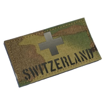 "RayWorx ® ""Flag Frontpatch - Switzerland"" IR Patch - MultiCam"