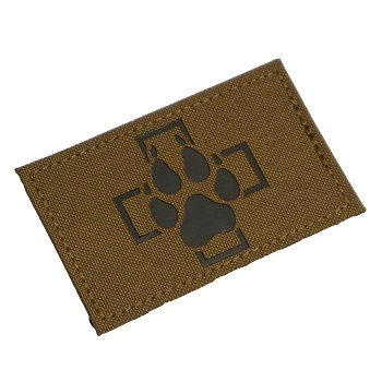 "RayWorx ® ""Swiss K-9"" IR Patch - Coyote"