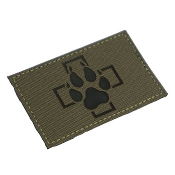 "RayWorx ® ""Swiss K-9\"" IR Patch - Ranger Green"