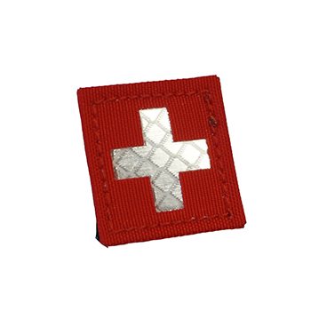 "RayWorx ® ""Swiss Flag"" (3 x 3 cm) Reflex Patch - Color"