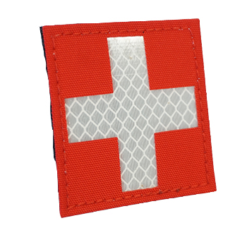 "RayWorx ® ""Swiss Flag"" (6 x 6 cm) Reflex Patch - Color"