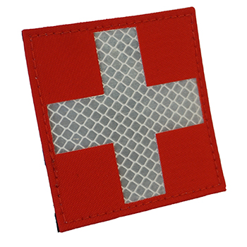 "RayWorx ® ""Swiss Flag"" (8 x 8 cm) Reflex Patch - Color"