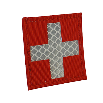 "RayWorx ® ""Swiss Flag"" (5 x 5 cm) Reflex Patch - Color"