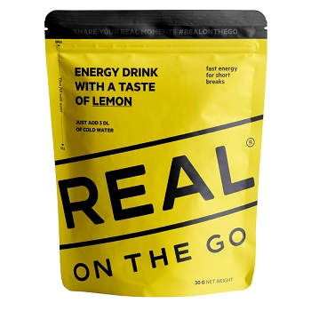 REAL ® On the Go Energy Drink - Zitrone