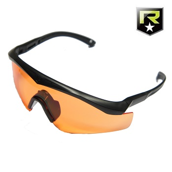"Revision ® Sawfly Max-Wrap MilSpec Ballistic Googles ""Basic"", Black - Vermillion"