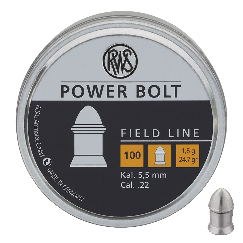 RWS ® Power Bolt Diabolos 5.5mm Flach - 100rnd