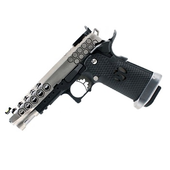 AW Custom HX2501 Hexagon HiCapa Pistol - Stainless
