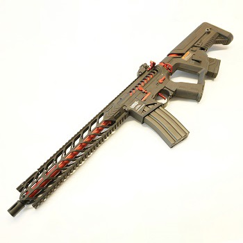 "Lancer Tactical M4 Nightwing ""Skeletonized"" ProLine AEG - Black / Red"