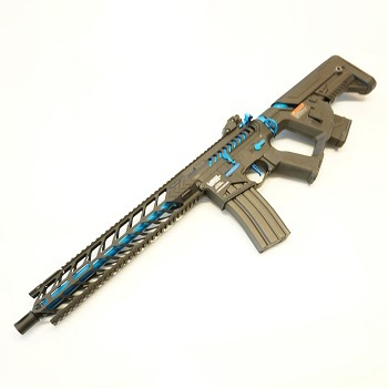 "Lancer Tactical M4 Nightwing ""Skeletonized"" ProLine AEG - Black / Blue"