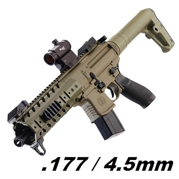 SIG MPX ASP Co² 4.5mm Diabolo inkl. RedDot - Dark Earth