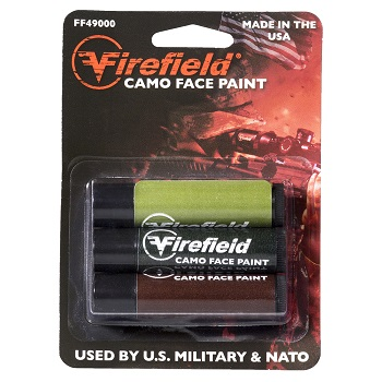 Firefield ® Woodland Camo Face Paint - 3er Pack
