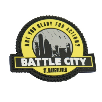 "3D PVC-Patch mit Velcro ""BattleCity"""