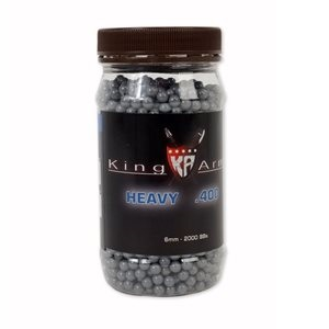 King Arms BBs 0.36g, grau, in Behälter - 2'000rnd
