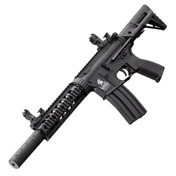Lancer Tactical M4 R.A.S. CQB SD PDW QSC AEG - Black