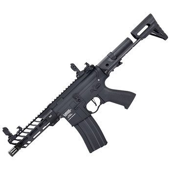 "Lancer Tactical M4 Enforcer Mod. II ""M-LOK"" PDW QSC ProLine AEG - Black"