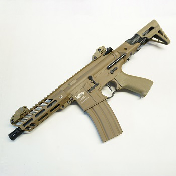 "Lancer Tactical M4 Enforcer Mod. II ""M-LOK"" PDW QSC ProLine AEG - Desert"