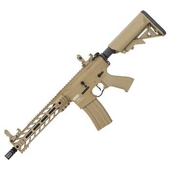 "Lancer Tactical M4 Enforcer ""M-LOK"" 10inch QSC ProLine AEG - Desert"
