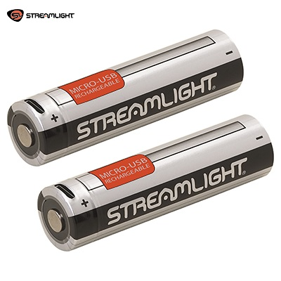 Streamlight ® 3.7v Li-Ion 2600mAh 18650 USB Rechargeable Battery