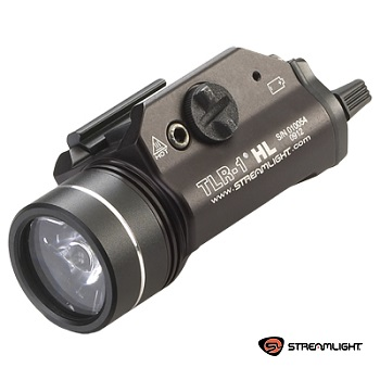 Streamlight ® TLR-1 HL Rail Mounted Tactical LED FlashLight (800 Lumen, mit Strobo) - Black