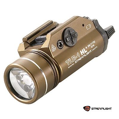Streamlight ® TLR-1 HL Rail Mounted Tactical LED FlashLight (800 Lumen, mit Strobo) - Flat Dark Earth Brown