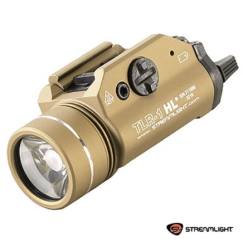 Streamlight ® TLR-1 HL Rail Mounted Tactical LED FlashLight (800 Lumen, mit Strobo) - Flat Dark Earth