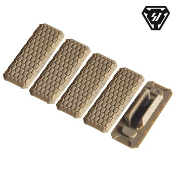 Strike Industries ® M-LOK Rail Covers (5er Pack) - Flat Dark Earth