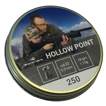 Borner Hollow Point Pellets Diabolos 5.5mm - 250rnd
