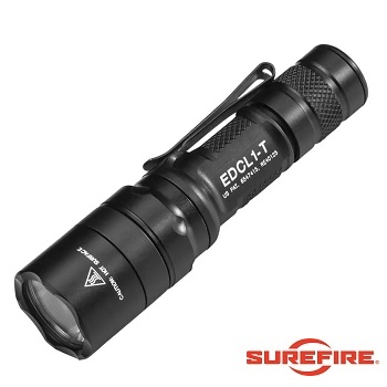 Surefire ®  EDCL1-T Dual-Output Everyday Carry LED Flashlight (500 Lumen) - Black