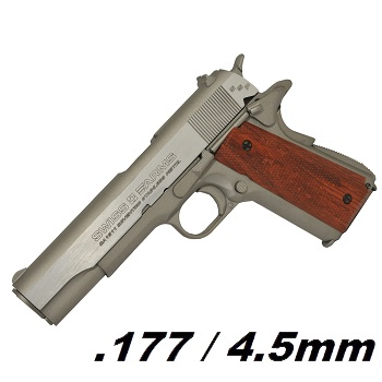 KWC x SWISS Arms SA 1911 SSP Co² BlowBack 4.5mm BB - Stainless