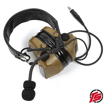 "Tac-Sky ""Comtat II"" Funk-HeadSet mit Gehörschutz ""Standard Version"" - Coyote Brown"