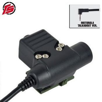 "Tac-Sky Tactical PTT Adapter ""U94"" - Motorola (1 Pin) Type"