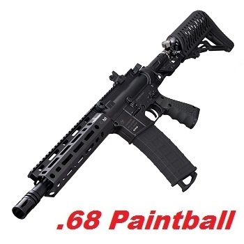 TIPPMANN M4 TMC Elite Magfed Cal .68 Paintball Marker mit AirStock  - Black