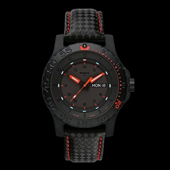 traser Red Combat H3 Watch Leather Strap