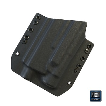 TR Holsters ® OWB Kydex Holster Glock 17 Light Bearing (TLR), links - Black
