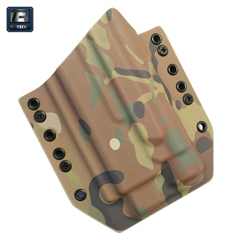 TR Holsters ® OWB Kydex Holster Glock 17 Light Bearing (TLR), links - MultiCam