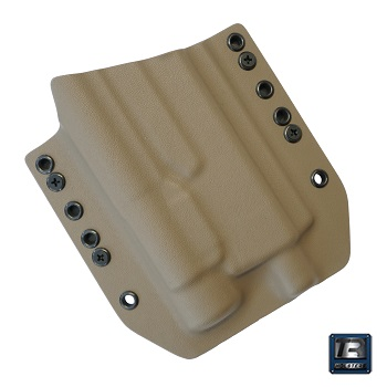 TR Holsters ® OWB Kydex Holster Glock 17 Light Bearing (TLR), rechts - FDE