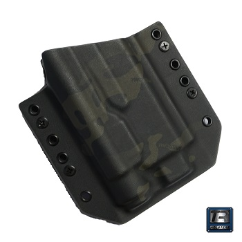 TR Holsters ® OWB Kydex Holster Glock 17 Light Bearing (TLR), rechts - MultiCam Black