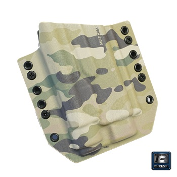 TR Holsters ® OWB Kydex Holster Glock 17 Light Bearing (TLR), rechts - MultiCam